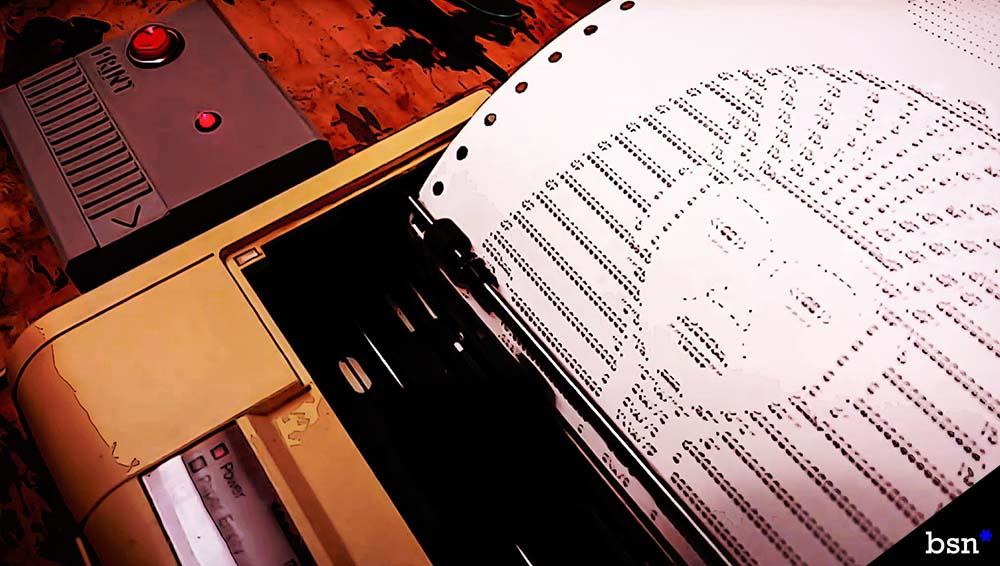 ASCII art machine